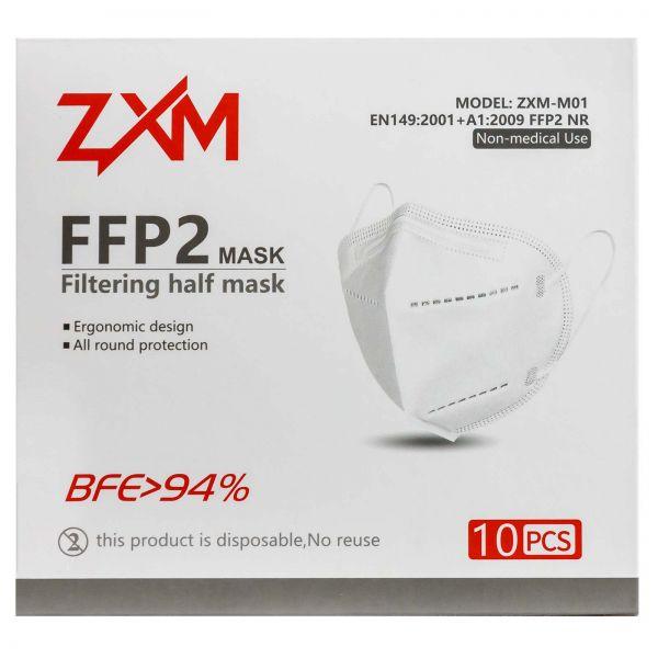 CE-zertifizierte FFP2 Maske, 10St./Pack, hygienische Einzelverpackung