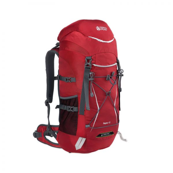 Rucksack Raptor 45L, red/dark red